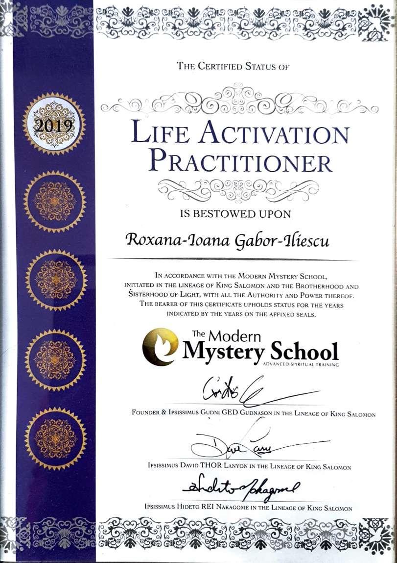Life Activation Diploma MMS Roxana Ioana GI - Certified Practitioner